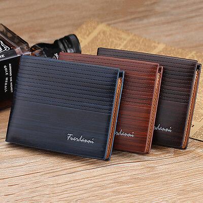 Men's Bifold Leather Credit ID Card Holder Wallet Billfold Purse Clutch Billfold 2