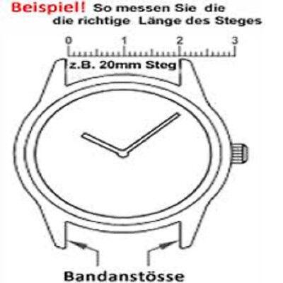 4 Federstege, Edelstahl, Federstifte, Uhrenstifte für Uhrenarmband 12mm bis 24mm 2