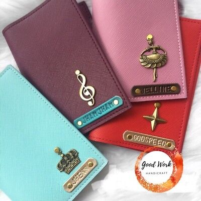 Personalised Leather Passport Cover Holder With Free Tag Name And Charm 2