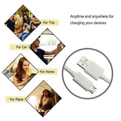 White MICRO USB Charging Cable lead For PS4 Playstation 4 Controller Pad Charger 10