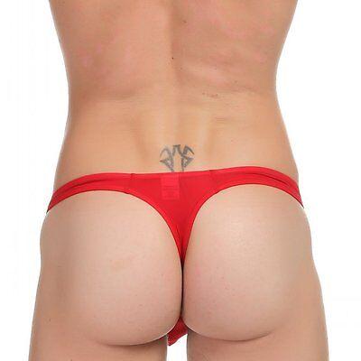 Slip String Rouge Sexy Homme Viril Erotique White Thong Men Man Underwear Uomo 4