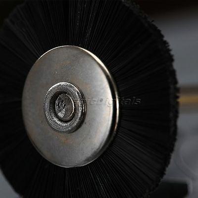 "5Pc 25mm Black Nylon Bristle Wheel Wire Brush 1/8"" Shank For Grinder Rotary Tool 10"