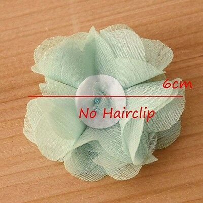 DIY Chiffon Fabric Flower with Pearls and bling Rhinestone Embellishment Craft 9