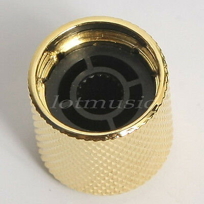 2 Pcs Electric Guitar Knobs Dome Knob Gold Metal 3