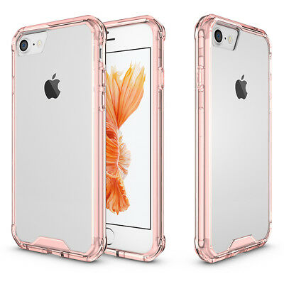 Shockproof Armor Clear Phone Case For iPhone 8 7 6 Plus Transparent Back Cover 6