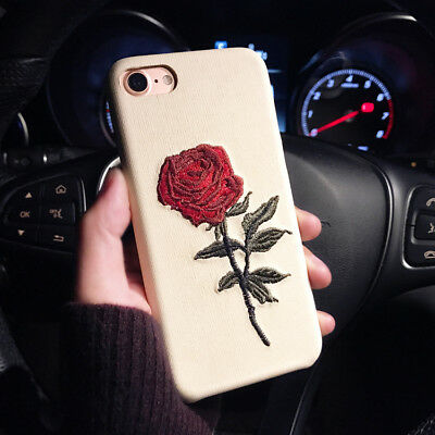 Slim Fit Case Retro Rose Flower Protective Covers For iPhone X XR Max 8 7 Plus