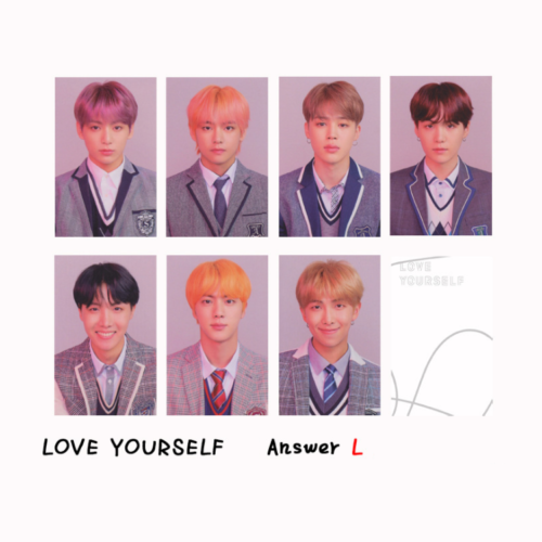 KPOP Bangtan Boys Album MAP OF THE SOUL PERSONA Boy with Luv Photo Card 9