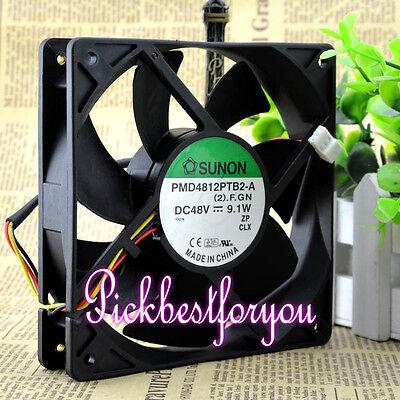 Sunon PMD4812PTB2-A.(2).GN DC 48V 9.1W 120x120x25mm 3Pin Cooling Fan #MF80 QL 3