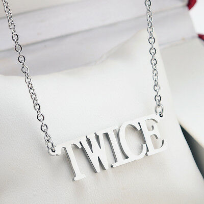 KPOP NCT EXO GOT7 TWICE BLACKPINK WANNA ONE Letter Steel Pendant Necklace 3