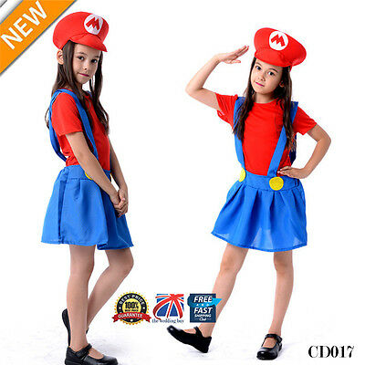 Men Adult Kids Women's Super Mario and Luigi Fancy Dress Cosplay Costume Outfit. 7