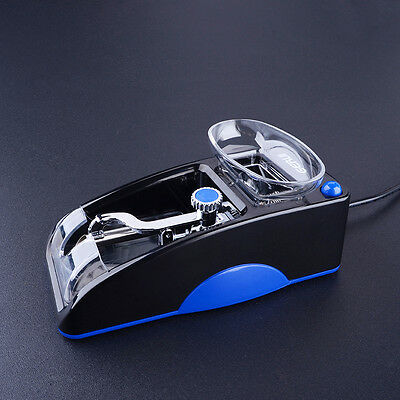 Electric Automatic Cigarette Rolling Machine Tobacco Injector Maker Roller Blue 7