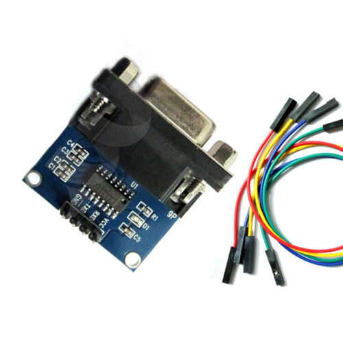 RS232 To TTL Converter Module Serial Board MAX3232 TX RX GND Port With Cable New