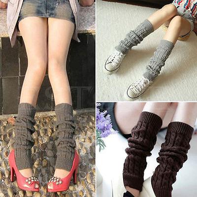 LEG WARMERS Stocking Legging High Knee Wool Knitted Womens Knit Ankle Socks Lot 3