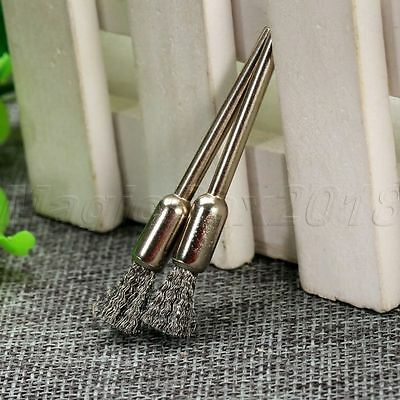 10PCS 6mm Stainless Steel Wire Drill Polishing Brush 3mm Shank Rotary Power Tool 9