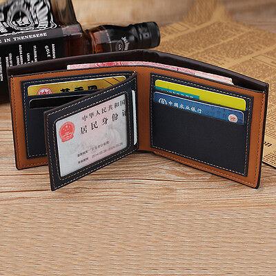 Men's Bifold Leather Credit ID Card Holder Wallet Billfold Purse Clutch Billfold 4