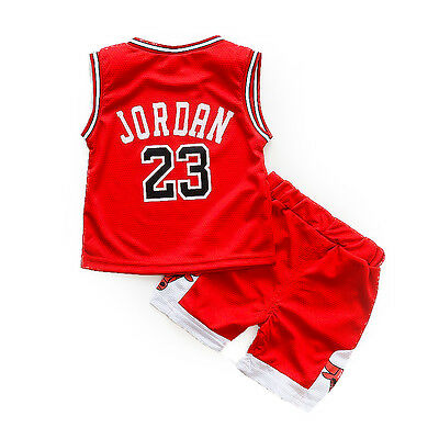 5a66f465b92 ... HOT Kids Baby Boys Girls  23 Michael Jordan Bulls Basketball Jerseys  Short Suits 9