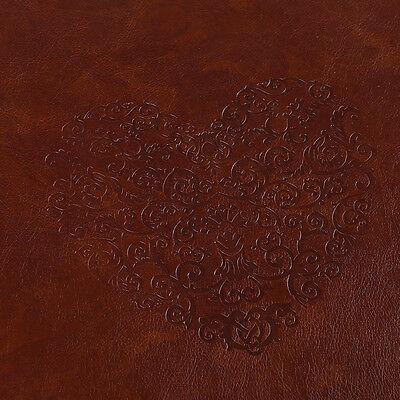 DIY PU Leather Vintage Heart Kraft Paper Photo Album Wedding Baby Scrapbook