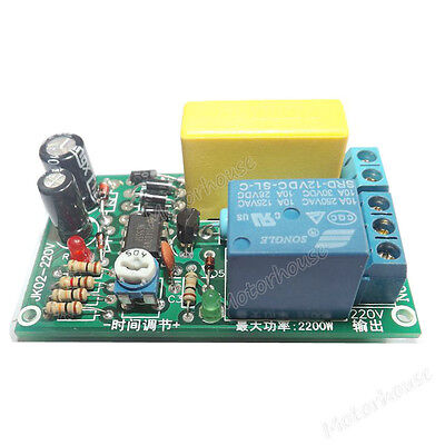 AC 220v 0~60s Adjustable time Relay Switch Delay turn off Module for Stair Lamp