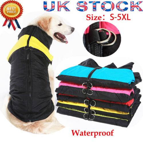 Waterproof Pet Dog Clothes Autumn Winter Warm Padded Coat Vest Jackets Apparel 3