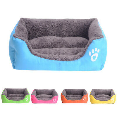 Dog Cat Bed Pet Kitten Puppy Cushion House Soft Warm Kennel Mat Blanket Washable 2