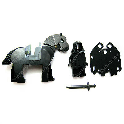 NEW LEGO Lord of the Rings RINGWRAITH MINIFIGURE /& HORSE w//Custom Cape 9472 LOTR