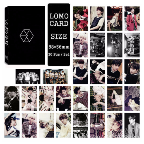 Lot of set cute KPOP EXO Album Personal Collective Photocard Poster Lomo Cards 6