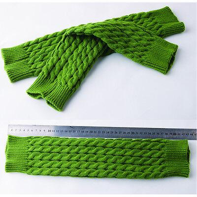 Women Winter Knit Crochet Warm High Knee Leg Warmers Leggings Boot Socks Slouch