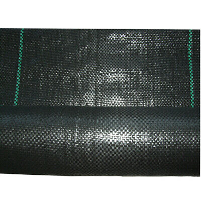 1m/2m Wide 100gsm Woven PP Weed Control Fabric Membrane Garden Mulch Landscape 8