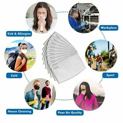 50 Pcs PM 2.5 Face Safe Filter Replacement Activated Carbon Filters Mouth Cover 7