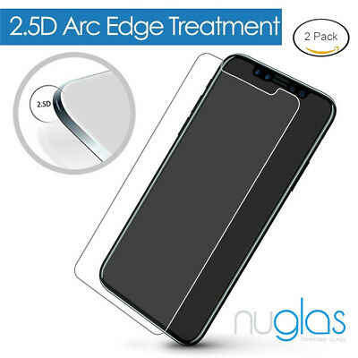 2 x GENUINE NUGLAS Tempered Glass Screen Protector For Apple iPhone X 6