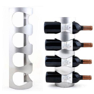 Stainless Steel Wine Rack Wall Mount Bar Decor Towel Wine Bottle Holder 6909U 2
