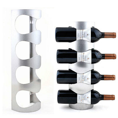 Stainless Steel Wine Rack Wall Mount Towel Wine Bottle Holder Bar Decor 6909U 2