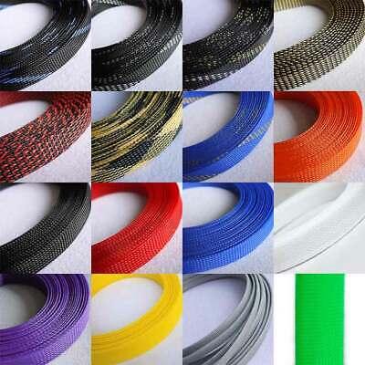 Ø 4 mm Polypropylengarn /& PET Gemischt Geflechtschlauch Gewebeschlauch 16 Farben