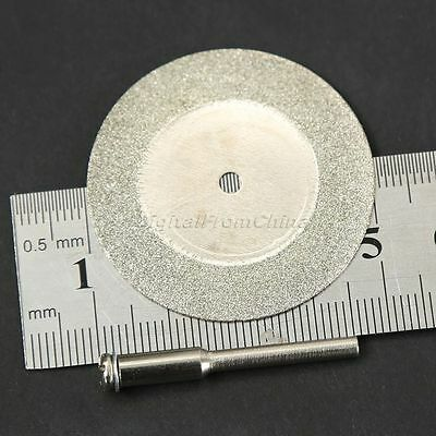 10PCS Diamond Cutting Off 40mm Wheel Disc Rotary Tool w// 2 Arbor Shaft for Dreml