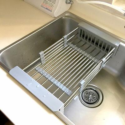 KITCHEN SINK STORAGE IN945 Dish Drying Rack Holder Drainer Basket ...