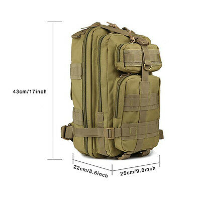 Hiking Camping Bag Army Military Tactical Trekking Rucksack Backpack Camo  30L 3