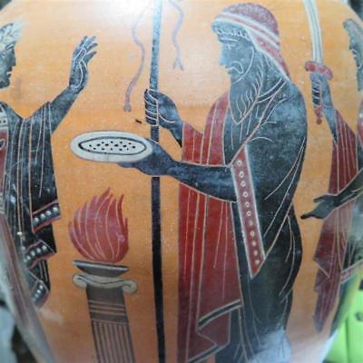 Ancient Greek terracotta black-figure volute krater Lot 166