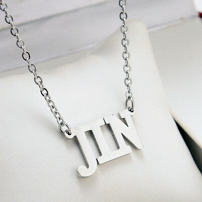 KPOP NCT EXO GOT7 TWICE BLACKPINK WANNA ONE Letter Steel Pendant Necklace 7
