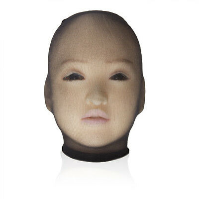 Unisex Fetisch Maske Cosplay Bondage BDSM Nylon Strumpfhosen-Stoff schwarz 2
