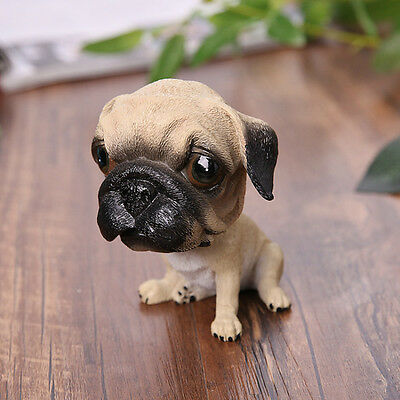 5164cfcb584 ... Bobblehead PUG Puppy Dog - Life Like Figurine Statue CAR moving doll  Home Decor 4