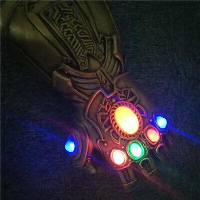 Thanos Infinity Gauntlet Glove Cosplay Avengers Endgame Infinity War Flash LED 3
