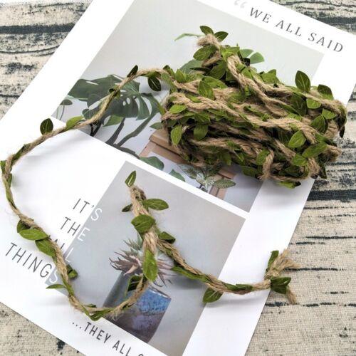 Artificiel Lierre Vigne Rotin String Vine Ivy Leaf Garland Vines Rattan 10M 3