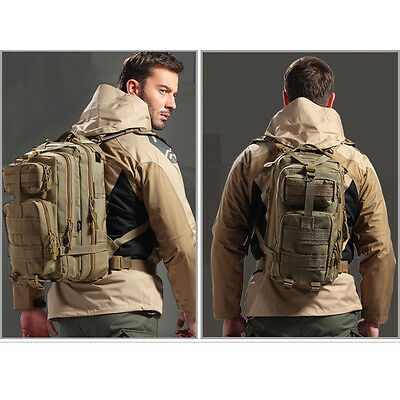 Hiking Camping Bag Army Military Tactical Trekking Rucksack Backpack Camo  30L 10