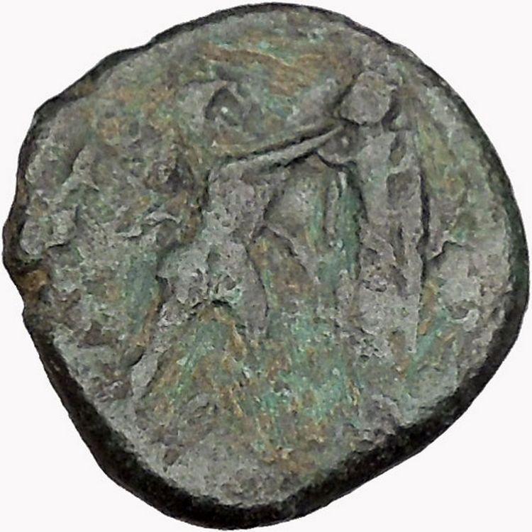 Antigonos II Gonatas Macedonian King Ancient Greek coin Athena PAN Cult  i43351 2