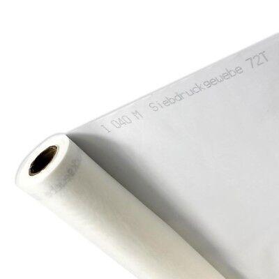 """3m 110 Netz X 63 """" Breite Einfarbig Weiß Seide Display Siebdruck Druck Stoff 4"""