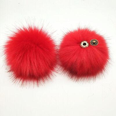 DIY Women Faux Raccoon Fur Pom Poms Ball for Knitting Beanie Hat Accessories Ak 11