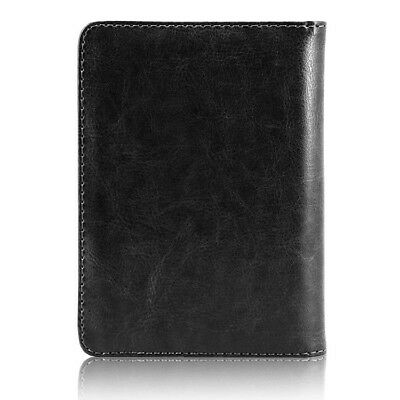RFID Blocking Leather Passport Holder Case Cover Wallet for Securely Travel Trip 3