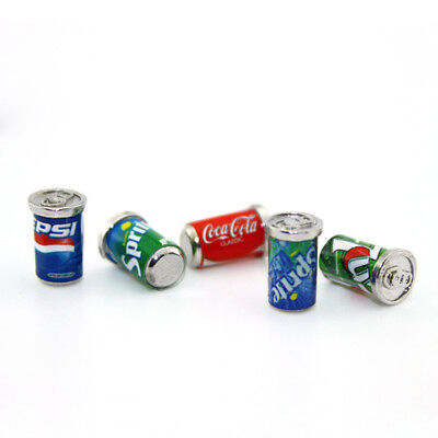 5 Dollhouse Miniature Soda Pop Cans Kitchen Food Drink Beverage Cola Pepsi 1/12 7