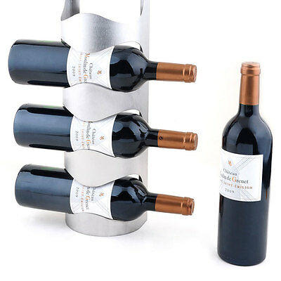 Stainless Steel Wine Rack Wall Mount Towel Wine Bottle Holder Bar Decor 6909U 4