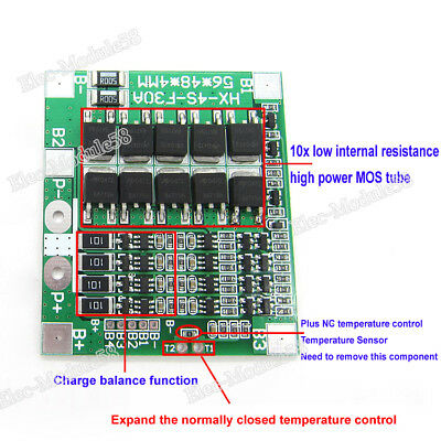 W// Balance Function! 30A Drain Rate BMS//PCB//PCM for 12V//12.8V(4S)LiFePO4 Battery